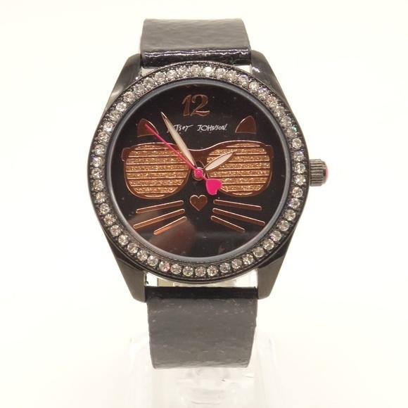 NEW BETSEY JOHNSON Cat Watch BJ00685-12BX $69💋